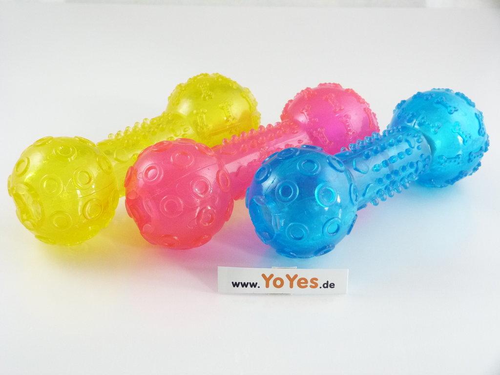 Yoyes hantel robustes hundespielzeug zum befüllen