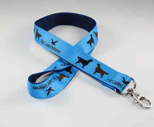 Flat Coated Retriever Motiv, Lanyard 50cm, blau