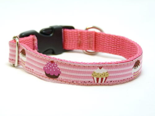 Halsband Muffin 15mm rosa